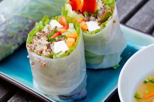 Vegetarian Summer Rolls with Quinoa
