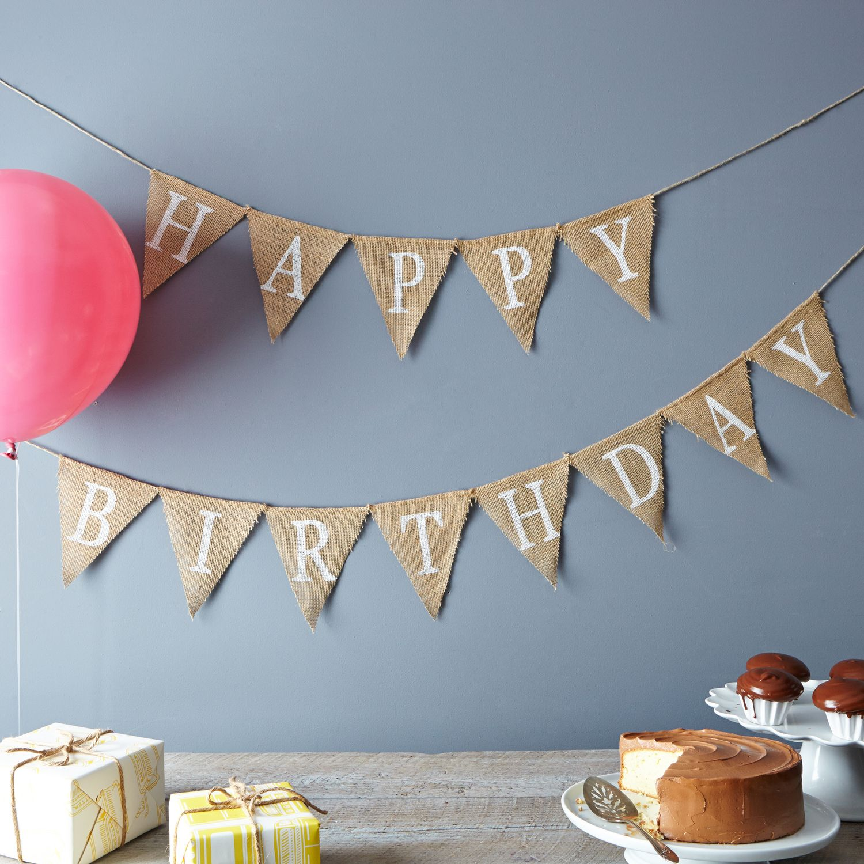 Happy Birthday Burlap Banner On Food52