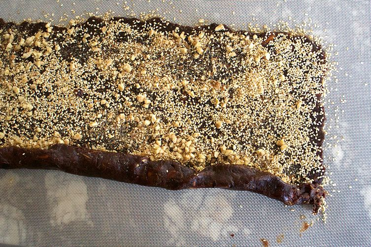Baqsum: Sesame Biscotti Filled With Dates