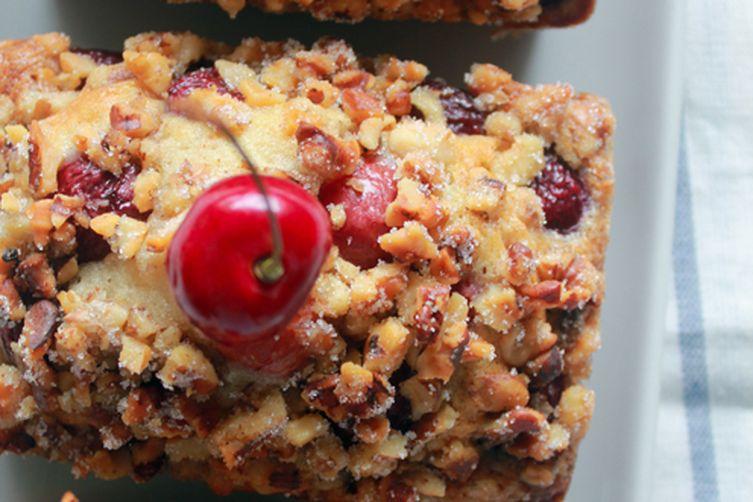 Cherry and Walnut Buttermilk Cake