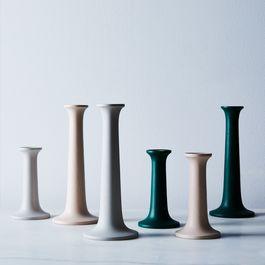 Simple Wood Candlesticks (Set of 2)