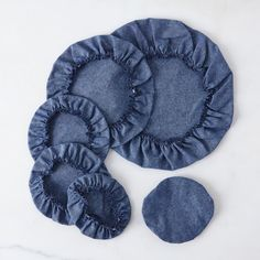 Linen & Cotton Bowl Covers (Set of 6)