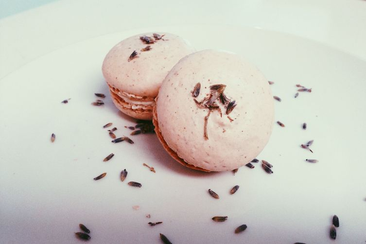 Lavender Macarons with Early Grey and Honey Lavender Buttercream: