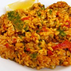Vegan Paella with Red Pepper