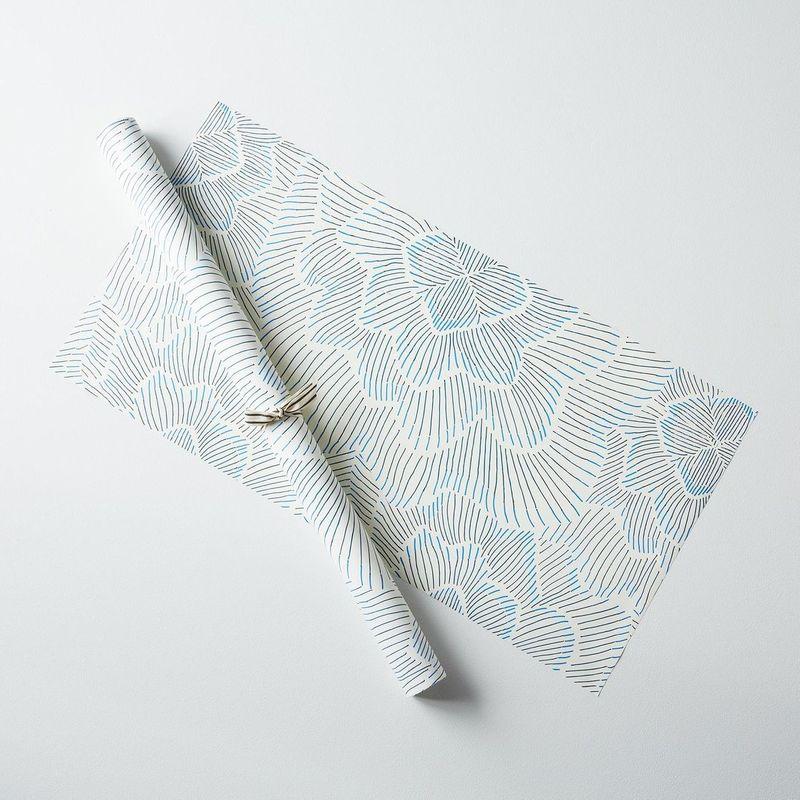 Pinstripe Floral Shelf Liner