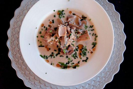 Mushroom Soymilk Soup