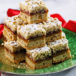 Sour Cherry & Marzipan Jam Bars