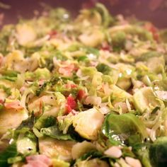 Brussels Sprouts with Pancetta and Shallots