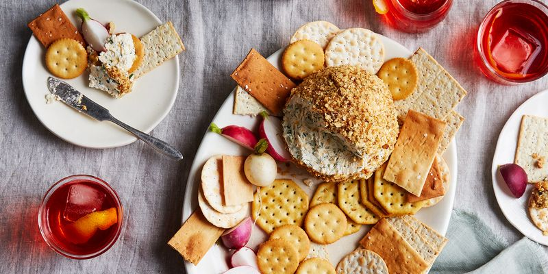 If you can mix things, you can make this (giant! Midwest-sized!) cheese ball.