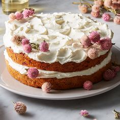 Carrot, Beet, & Parsnip Cake with Honey-Yogurt Frosting