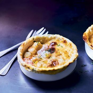 Sauternes-Soaked Langoustine and Scallop Pot Pies