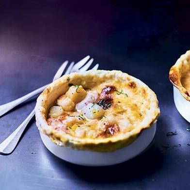 Sauternes-Soaked Langoustine and Scallop Pot Pies