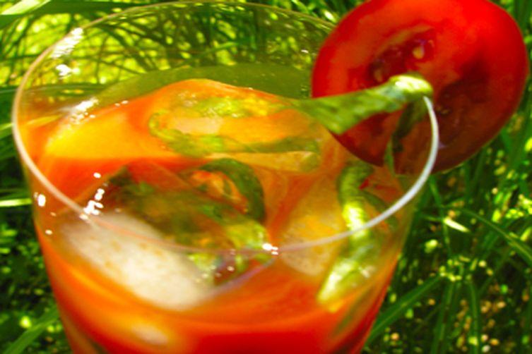 Herbal or citrus ice