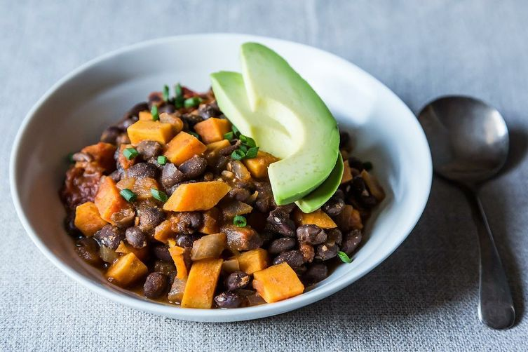 Smoky Black Bean and Sweet Potato Chili Recipe on Food52