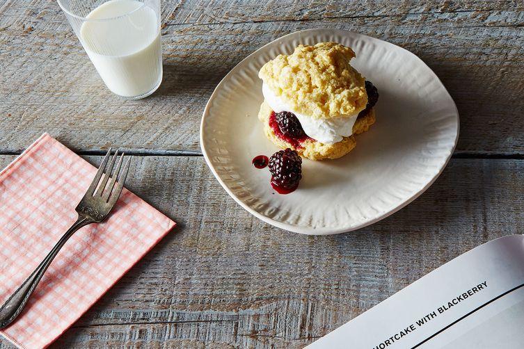 Polenta Shortcake with Blackberry Compote