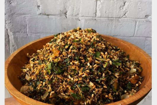 Wild Rice Salad with pinenuts & apricots
