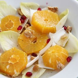 Winter Salad of Chicory, Orange, Pomegranate & Walnuts