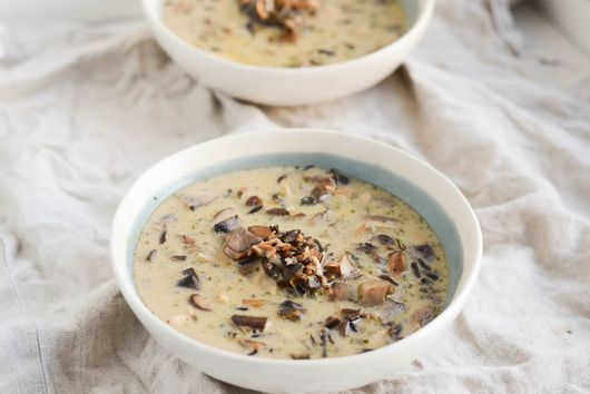 Chicken and Mushroom Wild Rice Soup