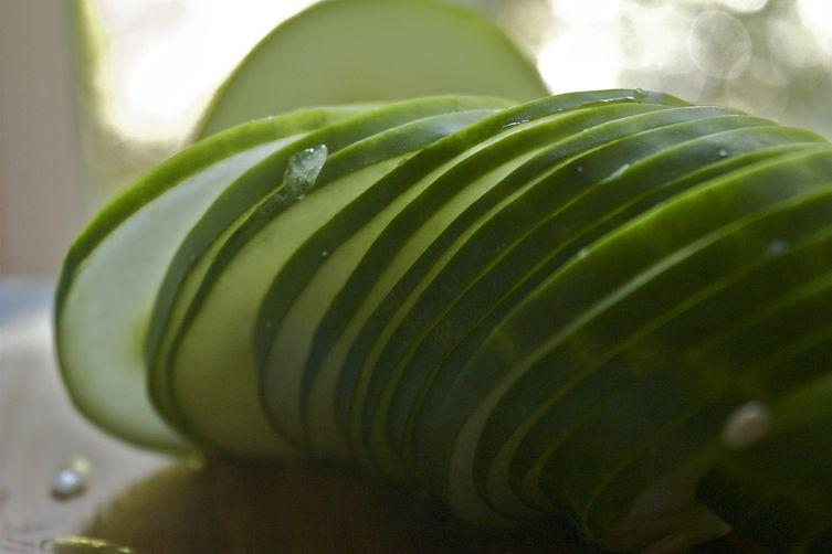 Zucchini & Cucumber 'Beat the Heat' Carpaccio