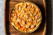 Almond Persimmon Cream Cheese Tart