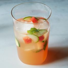 Louisa Shafia's Watermelon, Mint, and Cider Vinegar Tonic