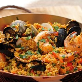Spicy Andalusian Seafood Paella