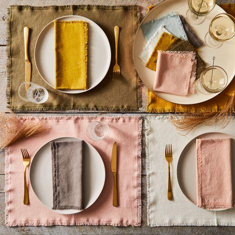 Simple Cotton Table Linens (Set of 4)