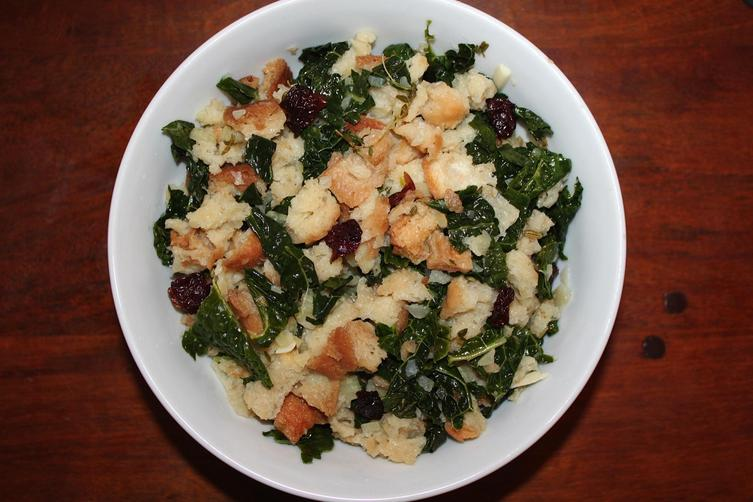 Cooktop Stuffing with Tuscan Kale, Fennel, and Herbs