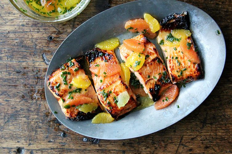 Broiled lemon honey arctic char with citrus sauce recipe on food52 broiled lemon honey arctic char with citrus sauce forumfinder Choice Image