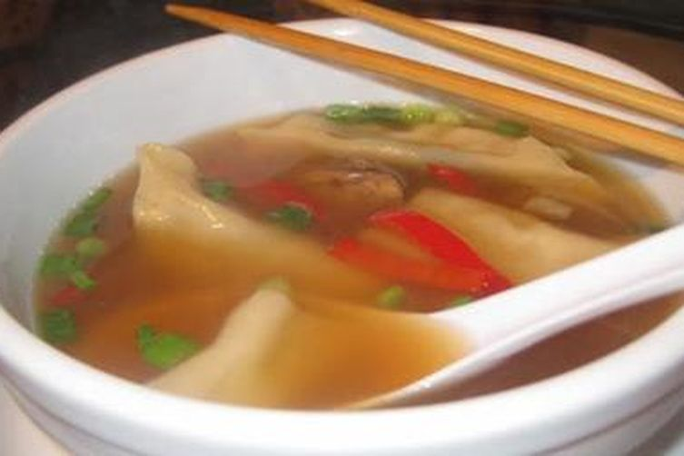 Dr Dalton's Amped up Asian Potsticker Soup