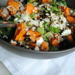 Roasted Sweet Potato, Feta, and Wild Rice Salad