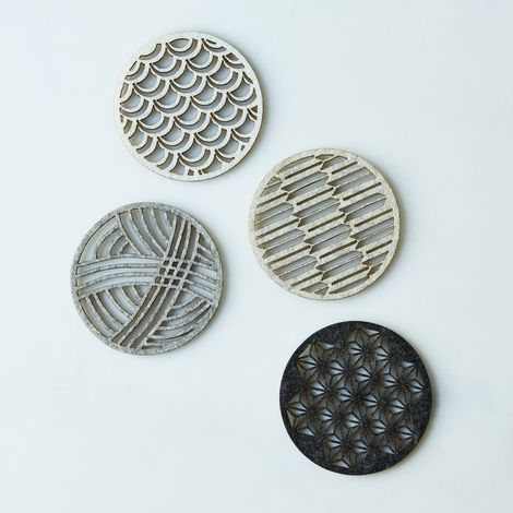 Geometric Felt Coasters (Set of 4)