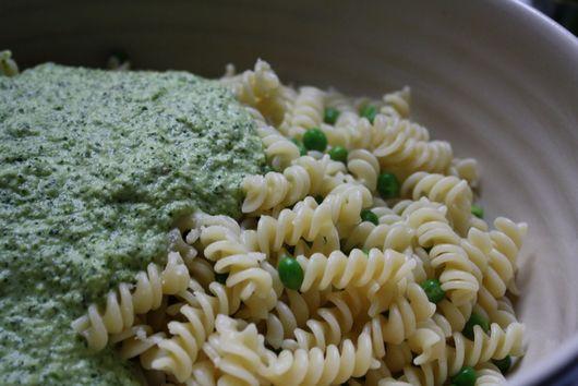 Fusilli with Asparagus-Mint Pesto