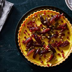 A Sweet, Festive Yogurt Tart That (Mostly) Skips Sugar