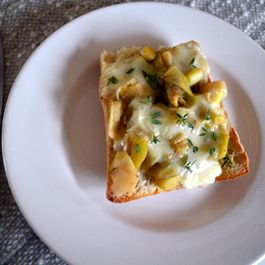 Taleggio, Leek and Thyme Toast
