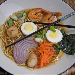 Seafood Ramen Noodle Soup