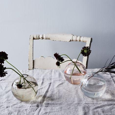 Spherical Glass Bud Vase
