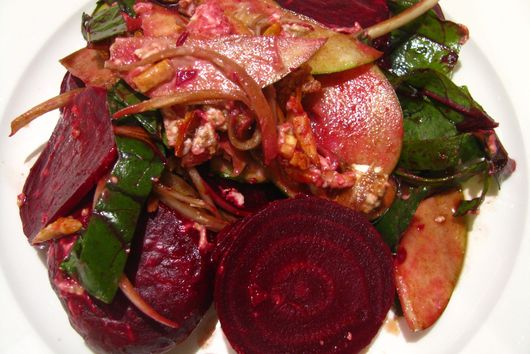 Roasted Beets, Goat Cheese and Apple Salad