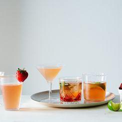 Strawberry Gin-Rosé Smash