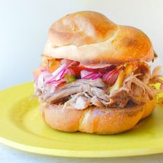 Pulled Pork Sandwiches with Stone Fruit Salsa