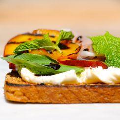 Ricotta Peach and Prosciutto Sandwich