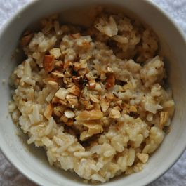Sweet and Savory Oat and Brown Rice Porridge (Quick Version)