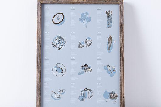 Framed Seasonal Fruit & Vegetable Print
