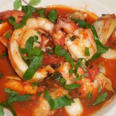 Brudet (Croatian seafood stew)