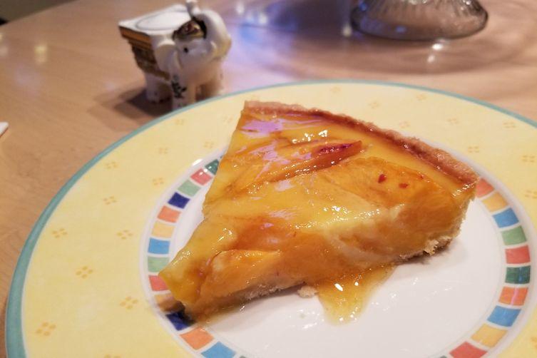 Peach tart with peach glaze