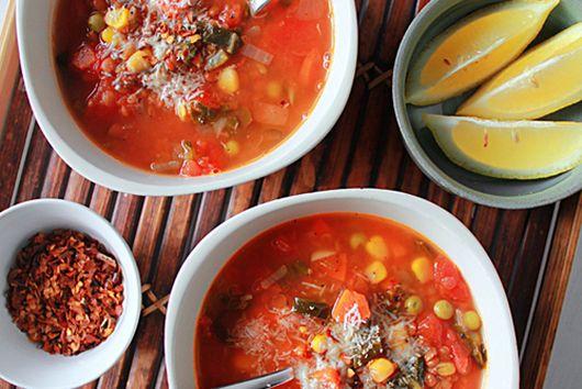 Vegan spiced lentil soup