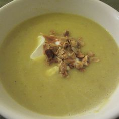 Roasted Garlic, Cauliflower, and Red Lentil Soup