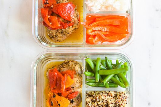 Instant Pot Chicken with Fire Roasted Peppers