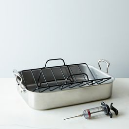 Mauviel Roasting Pan with Rack & Rosle Flavor Injector [OLD]