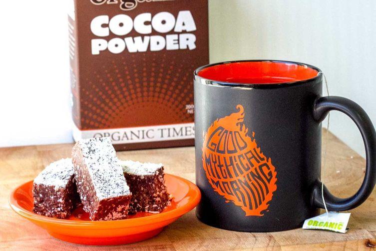 Cocoa Cashew Slice